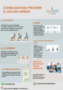Consejos para prevenir el dolor lumbar