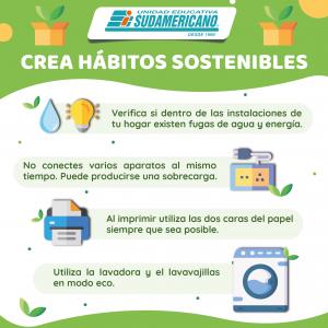 Crea hábitos sostenibles